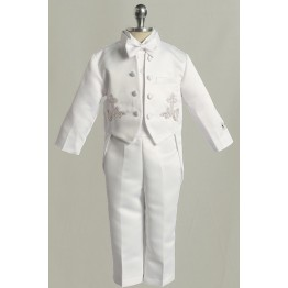 5 Piece Baptism or Christening Suit with Tails